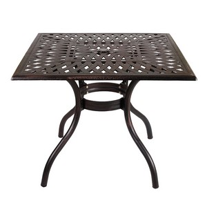 Стол квадратный Lotus Square Table (Лотос) бронза