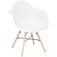 Кресло Secret De Maison CINDY (EAMES) (mod. 919), цвет: white with natural legs